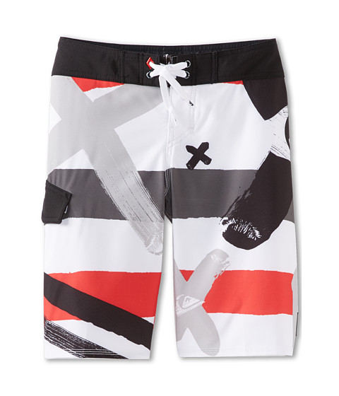 Quiksilver Kids - A Little Tude Boardshort (Big Kids) (White) Boy's Swimwear