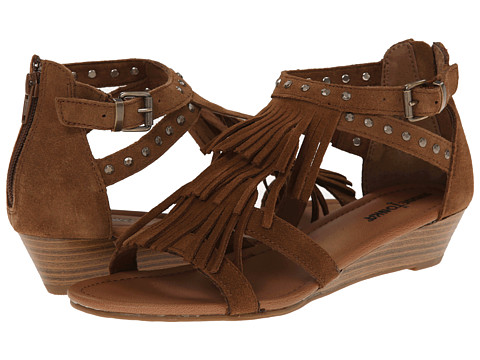 Minnetonka - Monaco (Dusty Brown Suede/Antique Brass) Women's Sandals