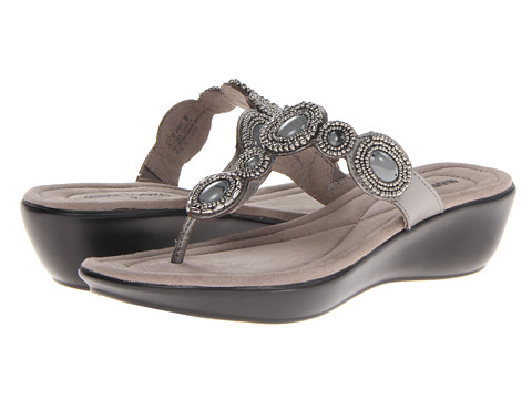 Minnetonka - Uptown II (Pewter Leather/Grey) Women's Sandals