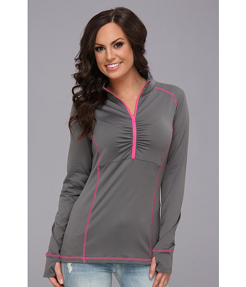 Cruel - Brushed Back Fleece Half Zip Jacket (Pink) Women's Long Sleeve Pullover