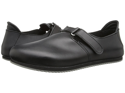 Birkenstock - Linz Super Grip (Black Leather) Shoes