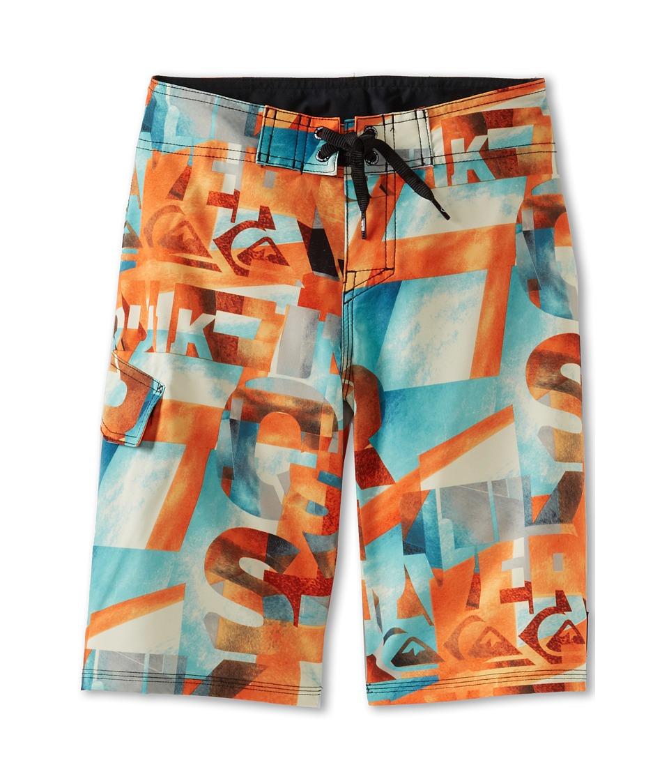 Quiksilver Kids Night Waka Boardshort Boys Swimwear (Orange)