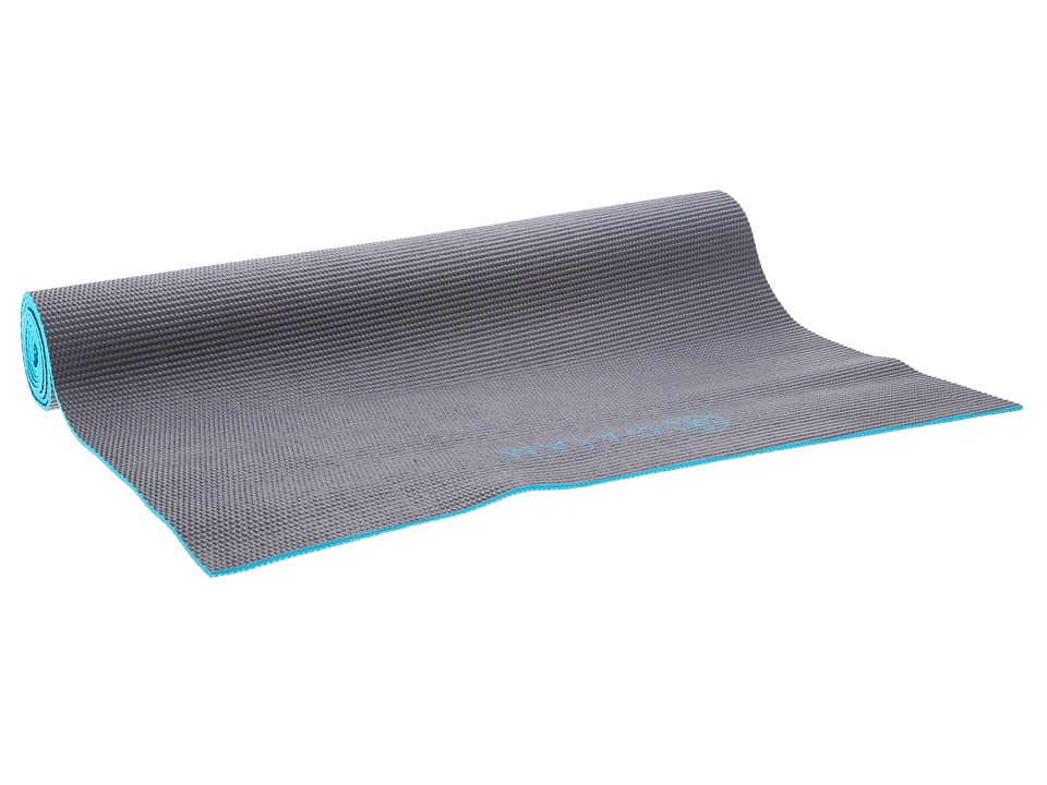 Gaiam - 3mm Earth Sky Solid 2-Color Yoga Mat (Brown/Blue) Athletic Sports Equipment