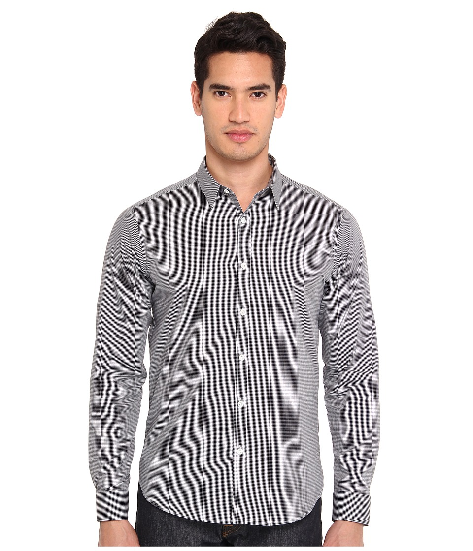 Theory - Zack PS Keyport (Black) Men's Long Sleeve Button Up