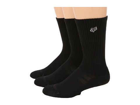 Fox - Short Trip 3-Pair Pack Socks (Black) Men's Crew Cut Socks Shoes