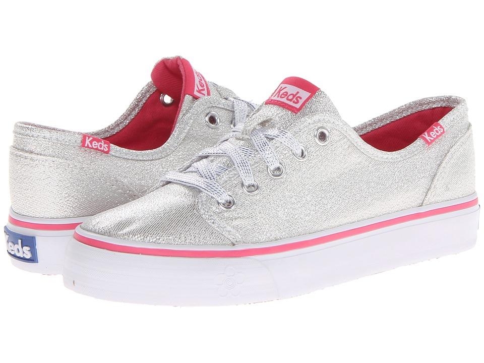 Keds Kids - Double Dutch (Little Kid/Big Kid) (Silver Sparkle Canvas) Girls Shoes