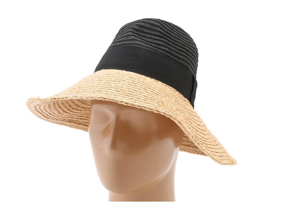 BCBGMAXAZRIA - Dramatic Color Block Panama Hat (Powder) Traditional Hats
