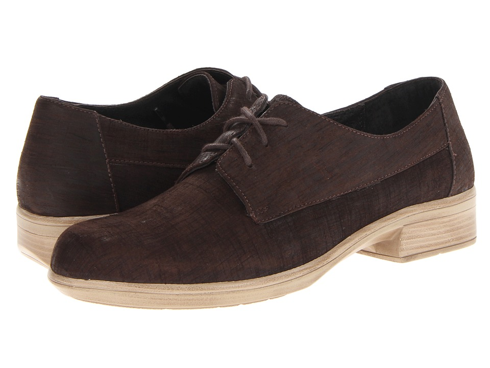 Naot Footwear - Kedma (Mine Brown Leather) Women's Lace up casual Shoes