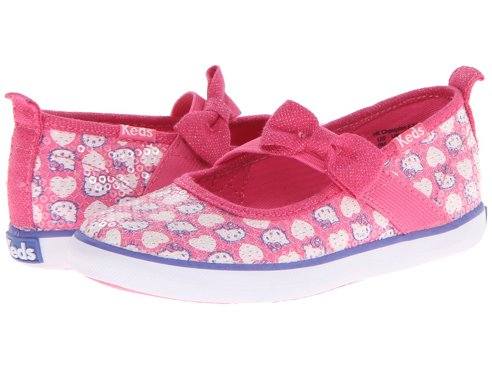 Keds Kids - Hello Kitty Champion K Maryjane (Toddler/Little Kid) (Pink Twill/White Sequins) Girls Shoes