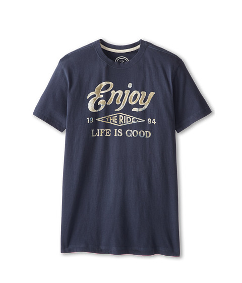 Life is good - LIG Creamy Tee (Blue) Men's T Shirt