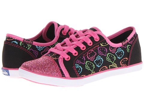 Keds Kids - Hello Kitty Rally K (Little Kid/Big Kid) (Black Multi Twill) Girls Shoes