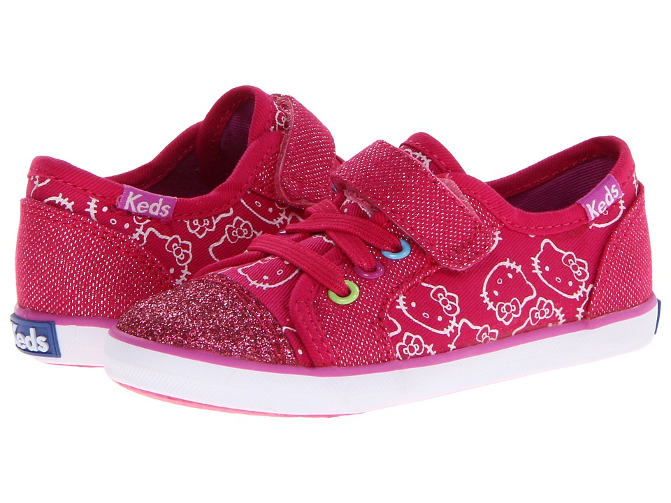 Keds Kids - Hello Kitty Rally K A/C (Toddler/Little Kid) (Pink Multi Twill) Girls Shoes
