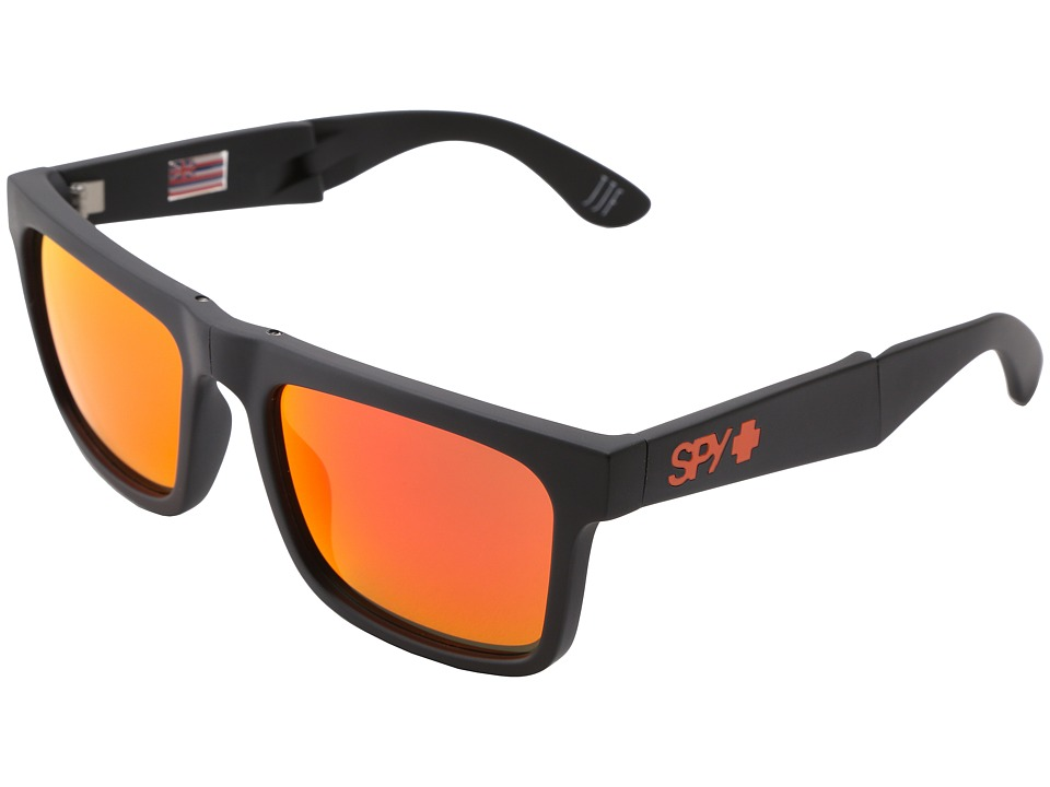 Spy Optic - The Fold (Matte Black/Bronze w/ Red Spectra) Sport Sunglasses