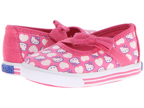Keds Kids - Hello Kitty Champion K Maryjane Crib (Infant) (Pink/White Twill) Girl's Shoes