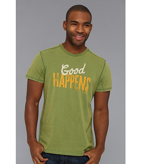 Life is good - Top Notch Tee (Grassy Green) Men's T Shirt