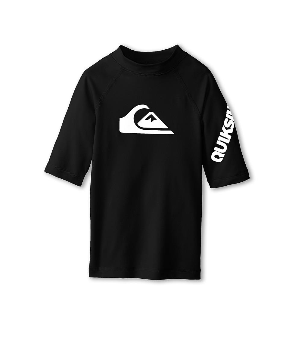 Quiksilver Kids All Time S/S Surf Shirt Boys Swimwear (Black)