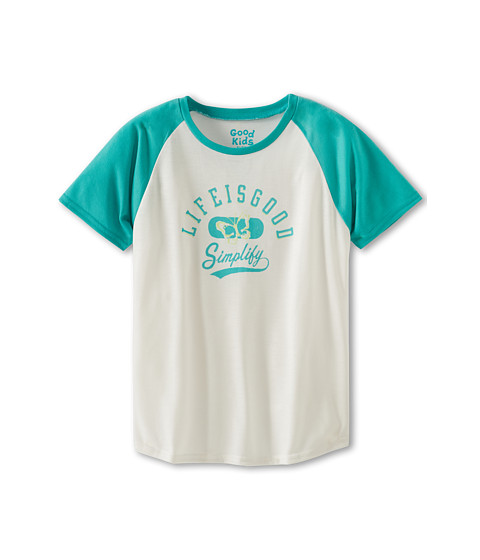 Life is good Kids - 24809 Baseball Sleep Tee (Toddler/Little Kids/Big Kids) (Aqua Blue) Girl's Pajama