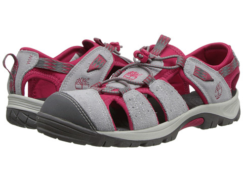 Timberland Kids - Earthkeepers Belknap Sandal Sport (Big Kid) (Light Grey/Hot pink) Girls Shoes