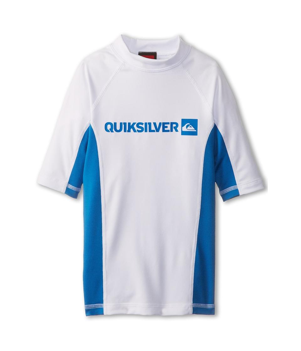 Quiksilver Kids Prime S/S Surf Shirt Boys Swimwear (Blue)