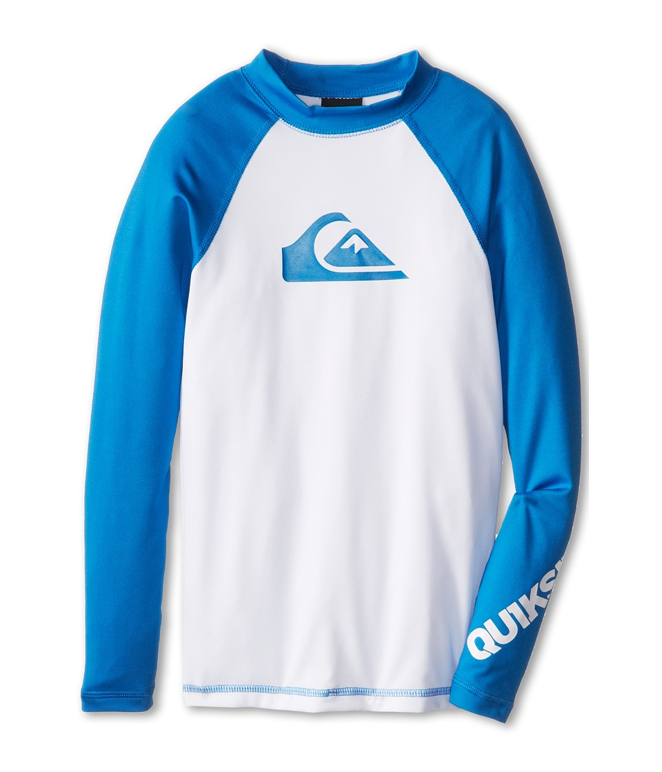 Quiksilver Kids All Time L/S Surf Shirt Boys Swimwear (Blue)