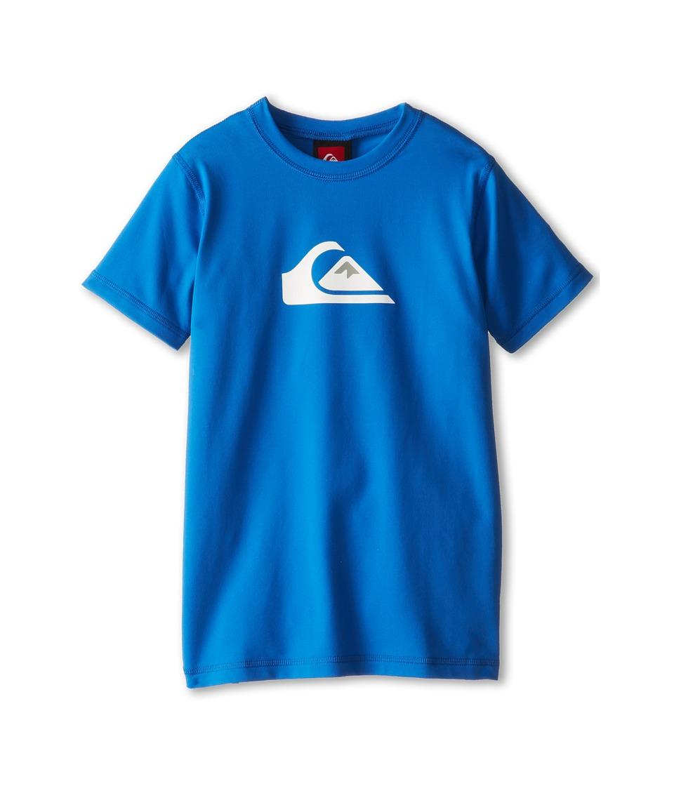 Quiksilver Kids Solid Streak S/S Surf Shirt Boys Swimwear (Blue)