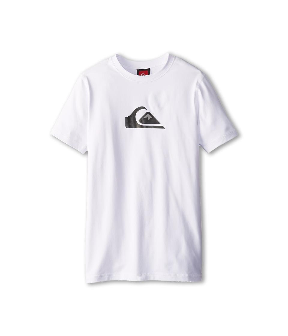 Quiksilver Kids Solid Streak S/S Surf Shirt Boys Swimwear (White)