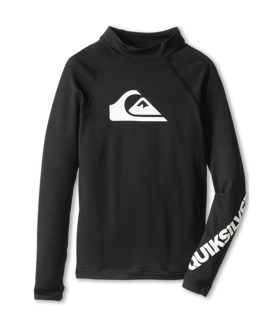 Quiksilver Kids All Time L/S Surf Shirt Boys Swimwear (Black)