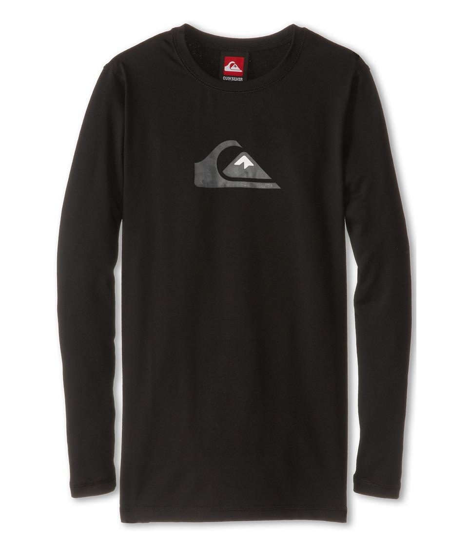 Quiksilver Kids Solid Streak L/S Surf Shirt Boys Swimwear (Black)