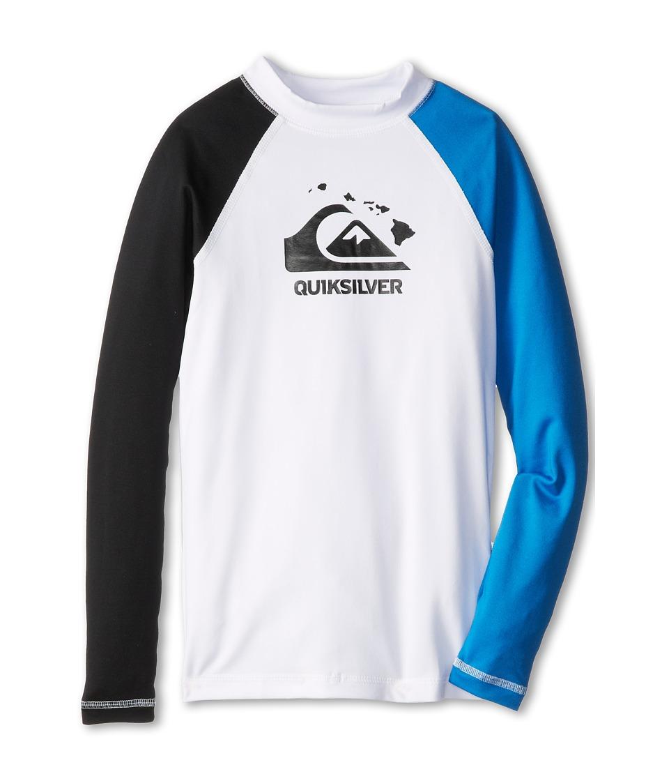 Quiksilver Kids Shaka L/S Surf Shirt Boys Swimwear (White)
