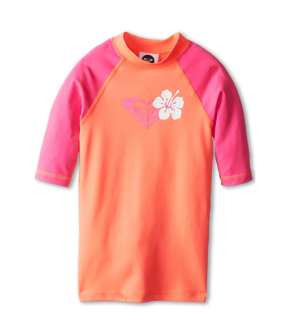 Roxy Kids Island Fever S/S Surf Shirt Girls Swimwear (Pink)