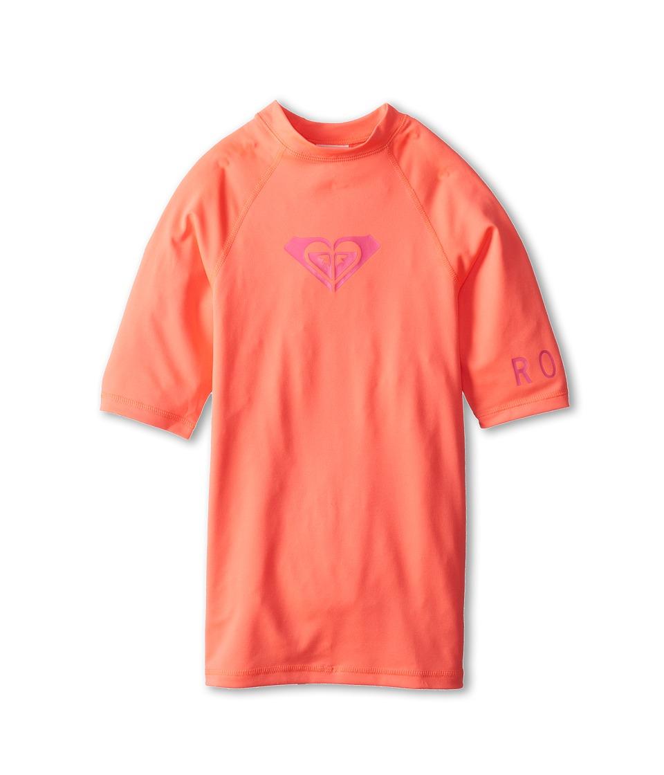 Roxy Kids Whole Hearted S/S Surf Shirt Girls Swimwear (Pink)