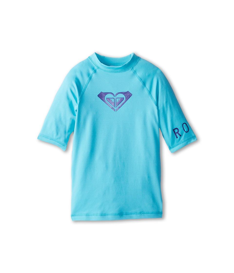 Roxy Kids Whole Hearted S/S Surf Shirt Girls Swimwear (Blue)