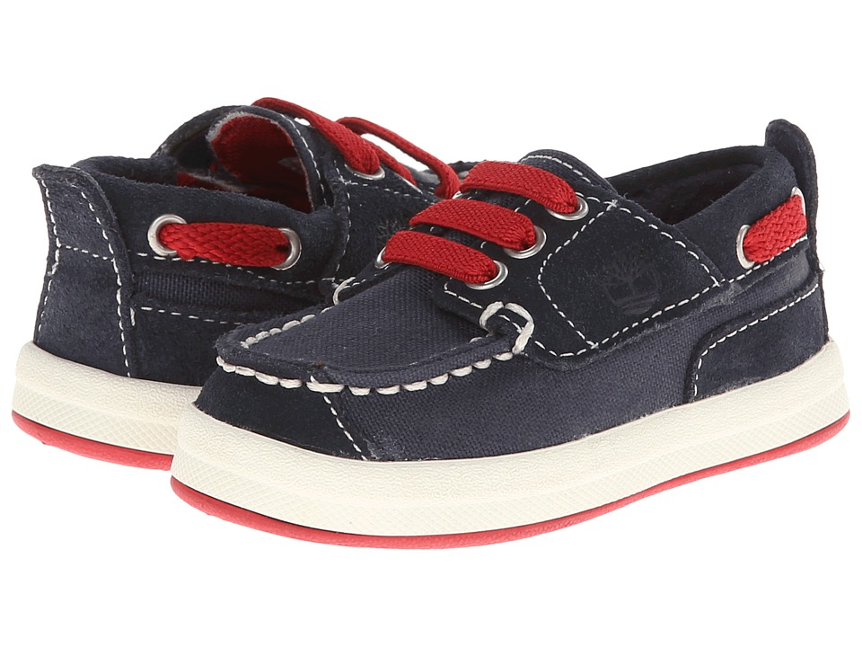 Timberland Kids - Earthkeepers Casco Bay Oxford (Toddler/Little Kid) (Navy) Boy's Shoes