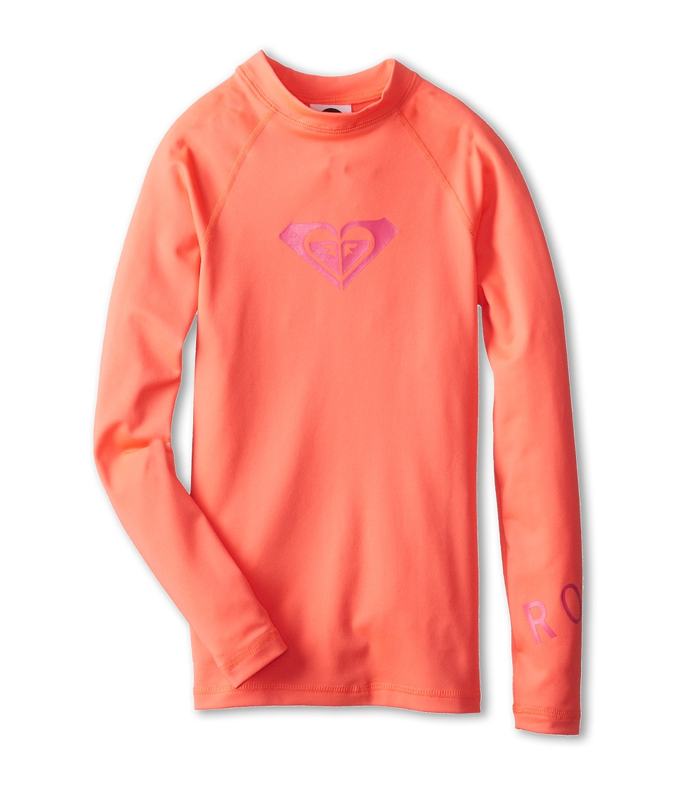 Roxy Kids Whole Hearted L/S Surf Shirt Girls Swimwear (Pink)