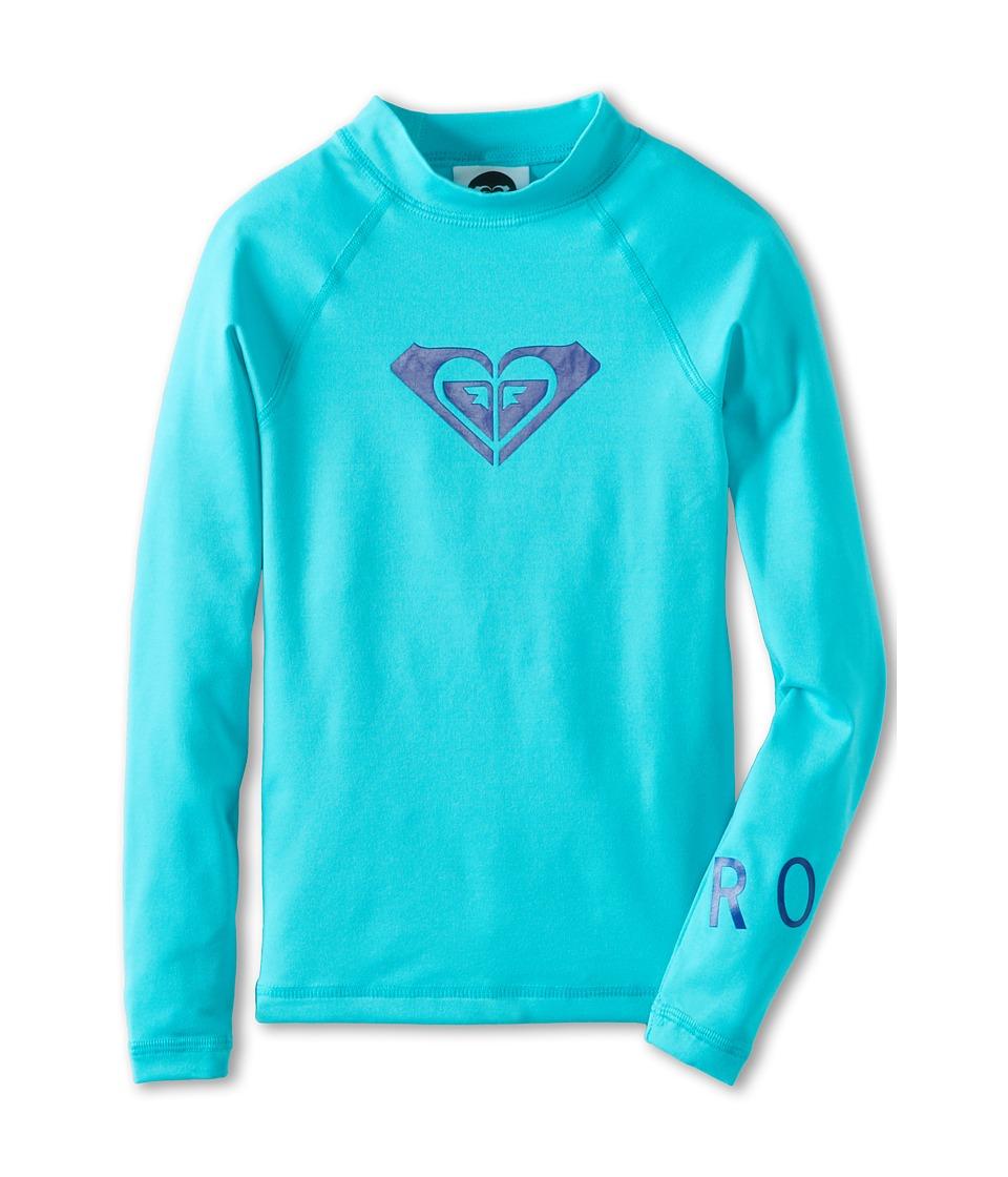 Roxy Kids Whole Hearted L/S Surf Shirt Girls Swimwear (Blue)