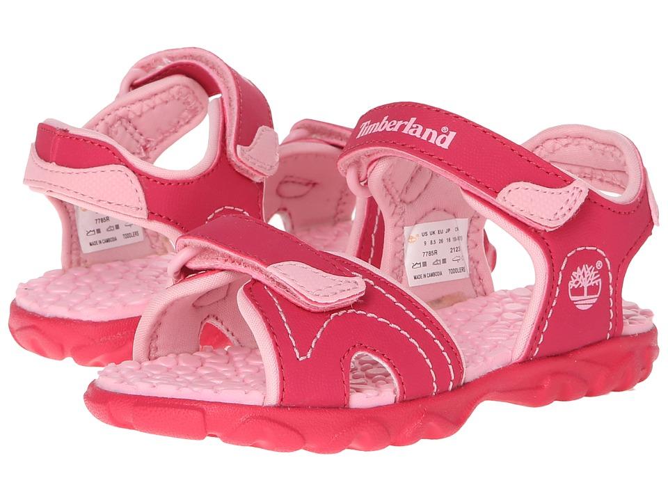 Timberland Kids - Splashtown 2-Strap Sandal (Toddler/Little Kid) (Hot Pink/Pink) Girls Shoes