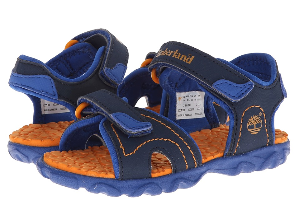 Timberland Kids - Splashtown 2-Strap Sandal (Toddler/Little Kid) (Navy/Royal/Orange) Boys Shoes