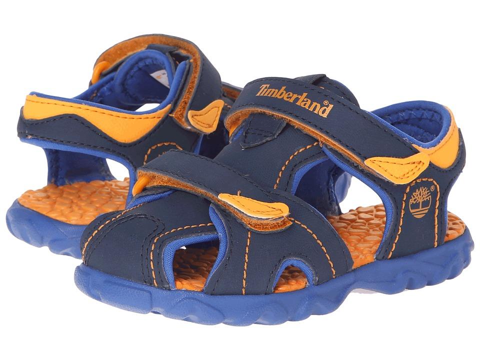 Timberland Kids - Splashtown Closed Toe Sandal (Toddler/Little Kid) (Navy/Royal/Orange) Boy's Shoes