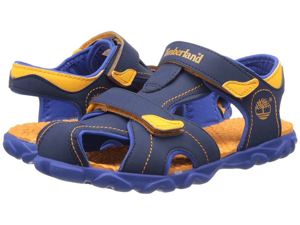 Timberland Kids - Splashtown Closed Toe Sandal (Big Kid) (Navy/Royal/Orange) Boy's Shoes