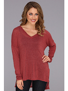 SALE! $34.99 - Save $50 on XCVI Agda V Neck Top (Pomogranate) Apparel - 58.84% OFF $85.00