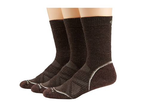 Smartwool - PhD Outdoor Medium Crew 3-Pack (Chestnut) Men's Crew Cut Socks Shoes