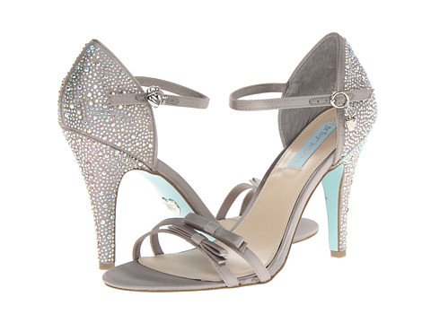 Blue by Betsey Johnson - Bow (Silver Satin) High Heels