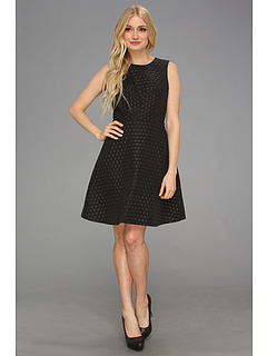 SALE! $69.99 - Save $99 on Vince Camuto S L Dot Party Dress (Rich Black) Apparel - 58.59% OFF $169.00