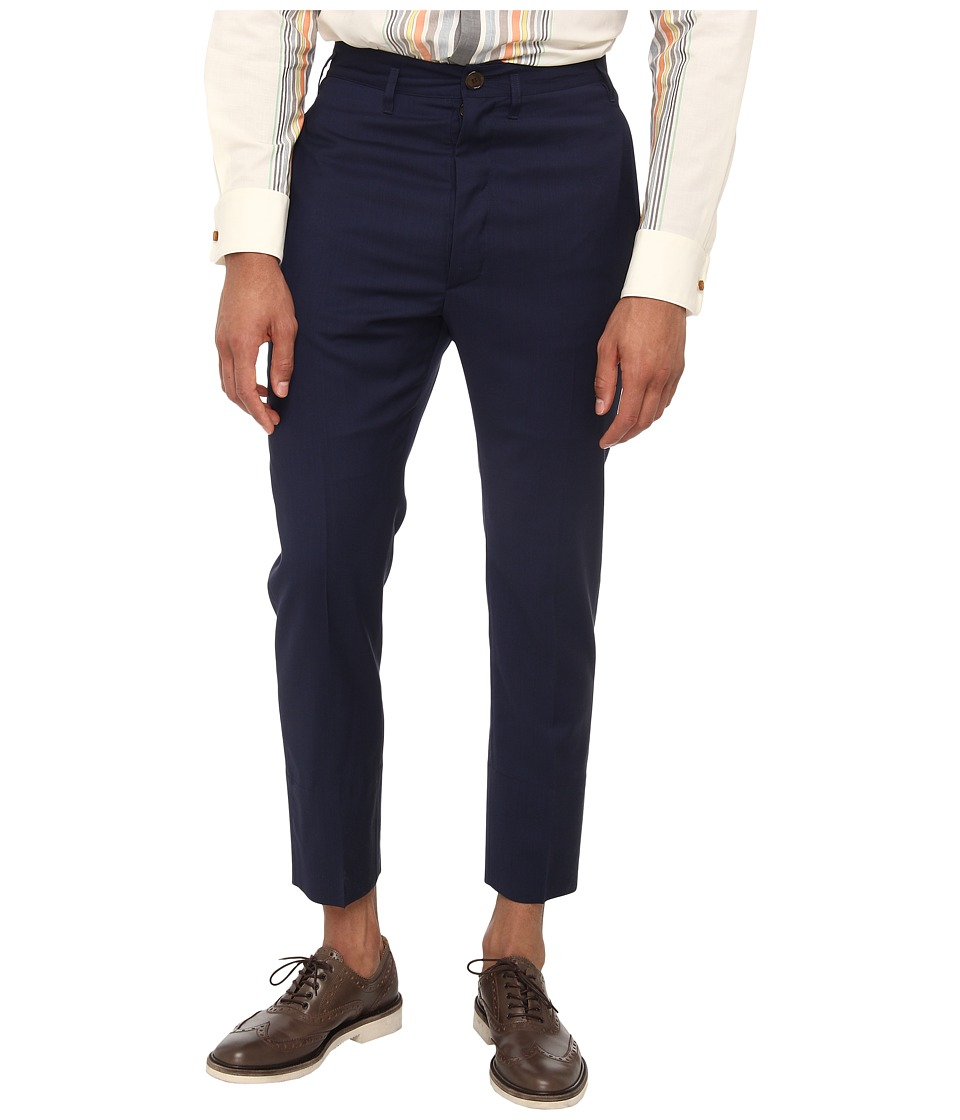 Vivienne Westwood MAN - Classic Wool Suiting Trouser (Navy) Men's Casual Pants