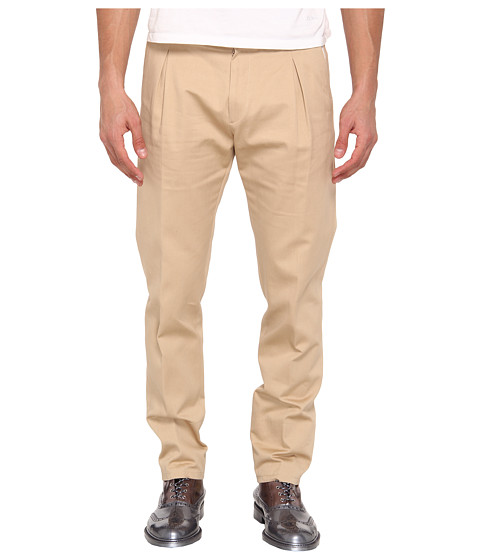 Vivienne Westwood MAN - Washed Twill Trouser (Khaki) Men's Casual Pants