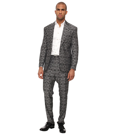 Vivienne Westwood MAN - RUNWAY Aloe Luxury Jacquard Regular Fit Suit (Grey) Men's Suits Sets