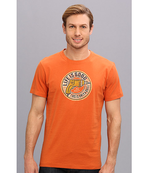 Life is good - Creamy Tee (Deep Orange) Men's T Shirt