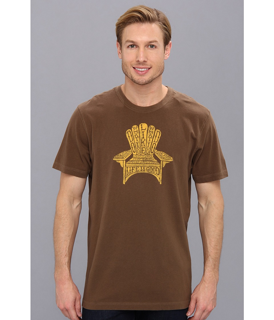 Life is good - Creamy Tee (Nutty Brown) Men