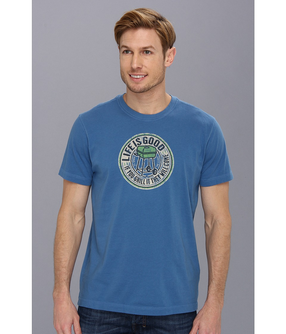 Life is good - Creamy Tee (Extra Blue) Men's T Shirt