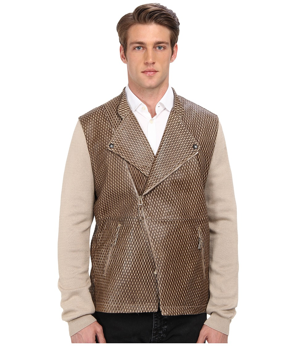 Vivienne Westwood MAN - Embossed Leather Jacket (Khaki) Men's Coat